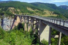 djurdjevica Tara γεφυρών Στοκ φωτογραφία με δικαίωμα ελεύθερης χρήσης