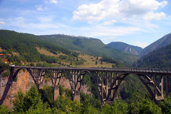 Djurdjevica Tara Brücke lizenzfreie stockfotografie