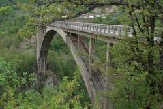 Djurdjevica Tara Bridge é uma ponte situada em Montenegro imagens de stock royalty free