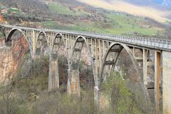 Djurdjevica Tara Bridge Stock Photography