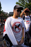 Djurens rättigheteraktivister Royaltyfria Foton