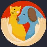 Djurens rättigheterskydd Royaltyfria Bilder