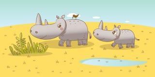 djurfamilj Arkivbilder