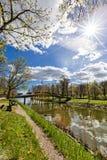 DjurgÃ¥rden,斯德哥尔摩,瑞典运河  免版税库存图片