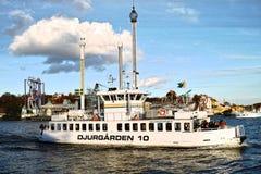 Djurgården-Boot in Stockholm Lizenzfreie Stockfotografie