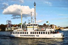 Djurgården boat in Stockholm Royalty Free Stock Photography