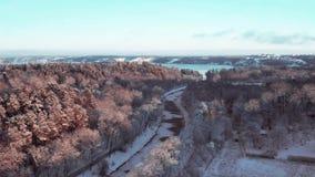 Djurgårdskanalen and Kaknästornet winter/spring. Djurgårdskanalen and Kaknästornet filmed with a Drone, Mavic 2 Pro. 4K 3840x2160, 29,97 fps, 48 Mbps stock footage