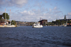 Djurgarden ferry Stock Photography