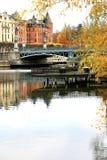 Djurgardsbro im Herbst Stockfoto