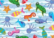 djurhav stock illustrationer