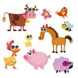 djurlantgårdgyckel Stock Illustrationer