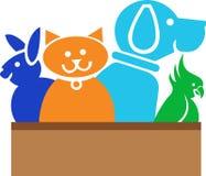 djurlogo stock illustrationer