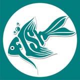 Djurlogo-fisk Royaltyfria Bilder