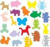 djursilhouettes Royaltyfri Fotografi