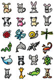 djursymboler Royaltyfri Fotografi
