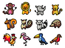 djursymboler vektor illustrationer