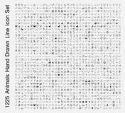 Djursymbolsuppsättning Arkivbild