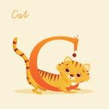 Djurt alfabet med katten Royaltyfri Fotografi