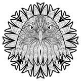 Djurt begrepp planlägg linjen Huvudet av en örn Royaltyfri Bild