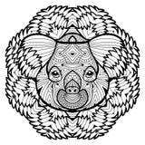 Djurt begrepp planlägg linjen Huvudet av en koala Royaltyfria Bilder