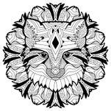 Djurt begrepp planlägg linjen Huvudet av en räv Royaltyfria Bilder