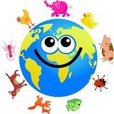 djurt jordklot stock illustrationer
