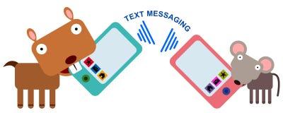 Djurt textmeddelande Arkivbild