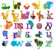 Djurt Themed alfabet för vektor Royaltyfri Bild