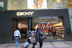 Dkny shoppar i Hong Kong Arkivfoto