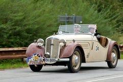 DKW F5 - (1936) in motie Royalty-vrije Stock Fotografie
