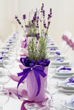 Dla ślubu stołowy set Zdjęcia Royalty Free