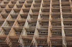 Dla betonowego kastingu żelazna siatka obraz royalty free