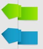 Dla biznesowego projekta wektorowe etykietki. EPS 10. ilustracji