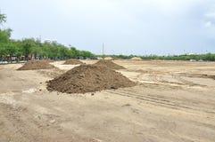 Dla budowy przygotowanie krajobraz Zdjęcie Royalty Free