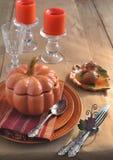 Dla Dziękczynienie Dzień stołowy położenie Zdjęcia Royalty Free