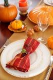 Dla Dziękczynienie Dzień stołowy położenie Fotografia Stock