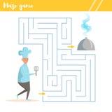 Dla dzieciaków labirynt gra Obraz Royalty Free
