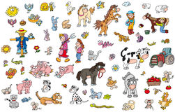 Dla dziecinów majcherów zwierzęcych adhesives zwierzęcych Zdjęcia Royalty Free