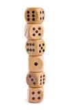 Dla gra planszowa drewniani kostka do gry obrazy royalty free