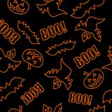Dla Halloween bezszwowa tekstura Obrazy Stock
