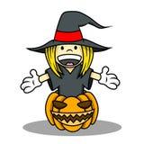Dla Halloween czarownica Kostium Zdjęcia Stock