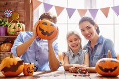 Dla Halloween rodzinny narządzanie Obraz Royalty Free