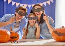 Dla Halloween rodzinny narządzanie Zdjęcia Royalty Free