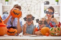 Dla Halloween rodzinny narządzanie Zdjęcie Stock
