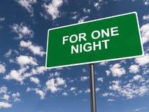 Dla jeden noc znaka ilustracja wektor
