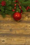 Dla kartka z pozdrowieniami bożenarodzeniowy skład. Zdjęcie Royalty Free