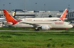 Dla Lotniczy India pierwszy Boeing 787 Fotografia Stock