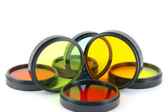 Dla obiektywów kolorów filtry fotografia stock