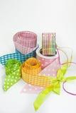 Dla opakunkowych prezentów kolorowi faborki Fotografia Stock