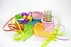 Dla opakunkowych prezentów kolorowi faborki Obraz Royalty Free